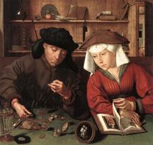 Le prêteur et sa femme de Quentin Mtsys 1514