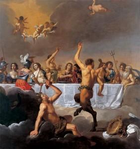 Le Festin des Dieux de Jan van Biljert (1630) Musée Magnin