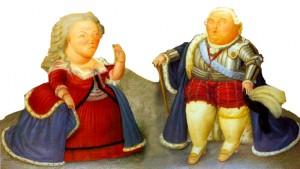 Louis XVI et Marie-Antoinette d'après F. Botero