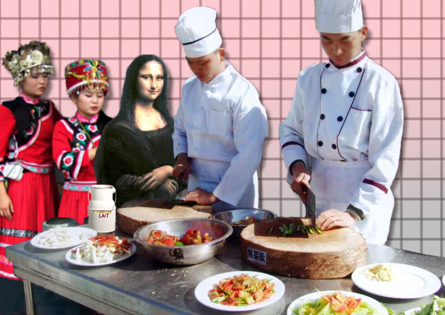 Mona et son pot à lait à Changsha