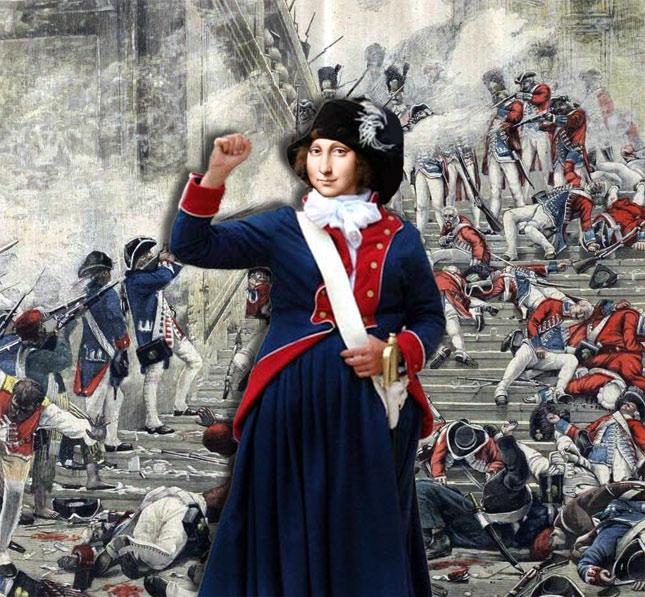 Théroigne participa activement à la prise des Tuileries
