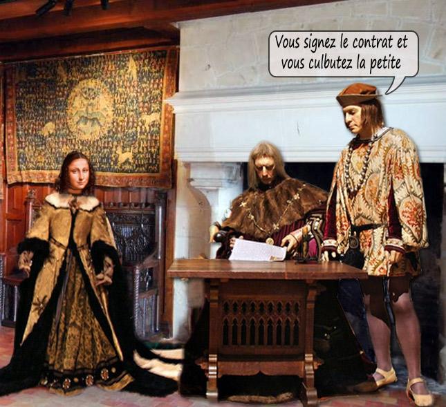 Charles VIII signe le contrat de mariage