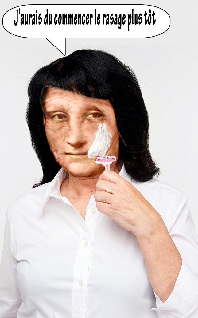 La mère de Mona n'a pas sa jolie peau